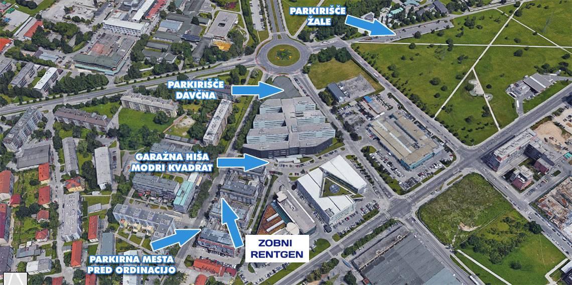 Parkiranje zobni rentgen Ljubljana